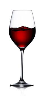 Rödvin i glas