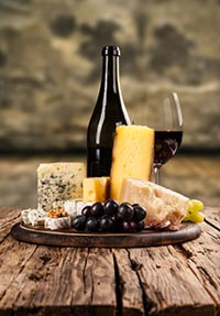rött vin till ost