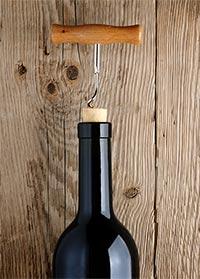 Vinflaska med kork