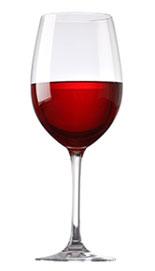 Vinglas rödvin