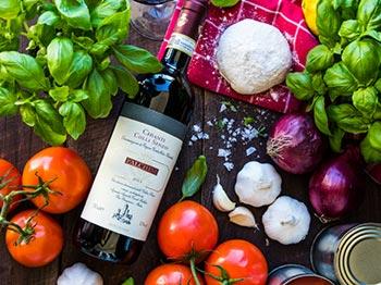 Rödvin från populära Toscana