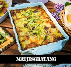 Matjes- och potatisgratäng med gul lök