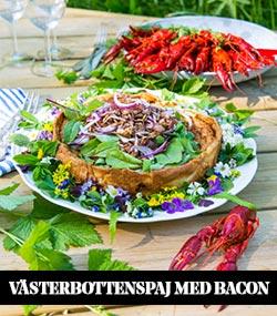 Västerbottenspaj med bacon och rödlök