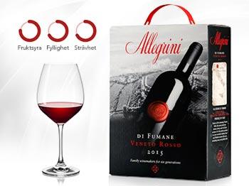 Lyxigt rödvin på bag in box