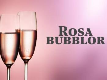 Två härliga rosa bubbel
